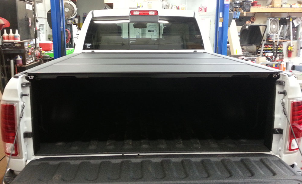 VS chrome bugshield and Bakflip tonneau cover