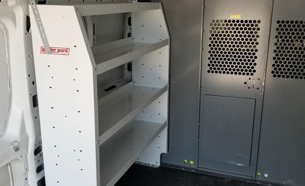 Weatherguard shelving units