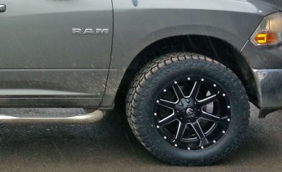 """Fuel rims and 33"""" Toyo open country at II tires"""