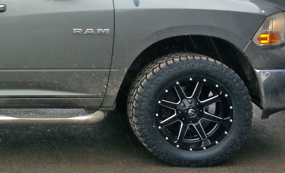 "Fuel rims and 33"" Toyo open country at II tires"