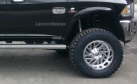 "Fuel rims and 37"" Toyo open country RT tires"